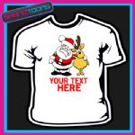 PERSONALISED SANTA CLAUS REINDEER FATHER CHRISTMAS TSHIRT